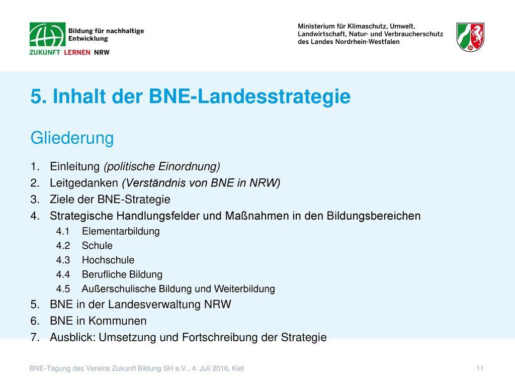 5. Inhalt der BNE-Landesstrategie