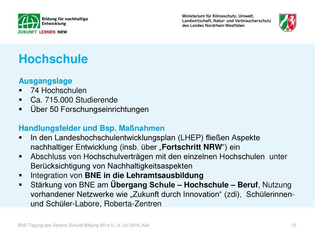 Hochschule Ausgangslage 74 Hochschulen Ca. 715.000 Studierende
