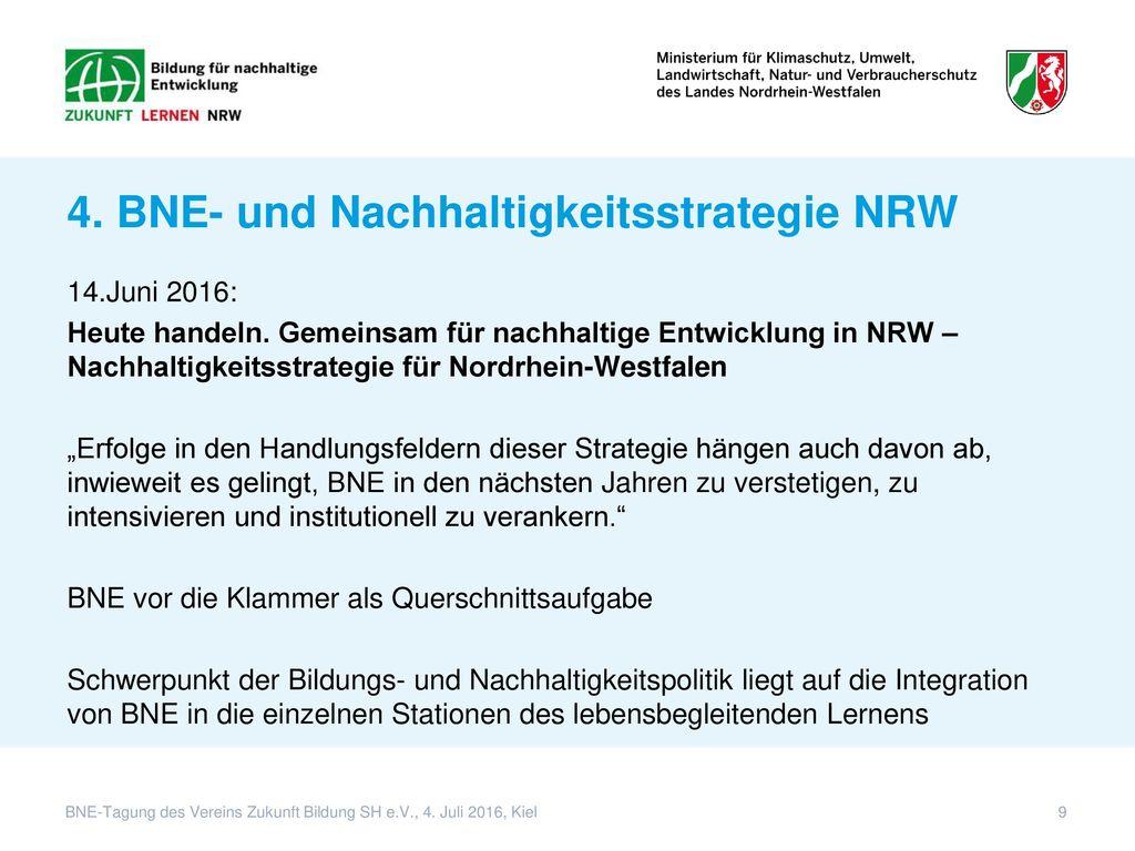 4. BNE- und Nachhaltigkeitsstrategie NRW