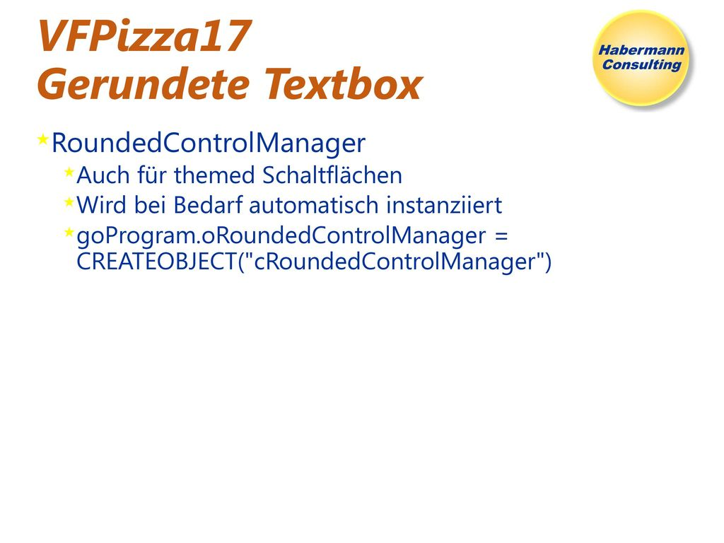 VFPizza17 Gerundete Textbox