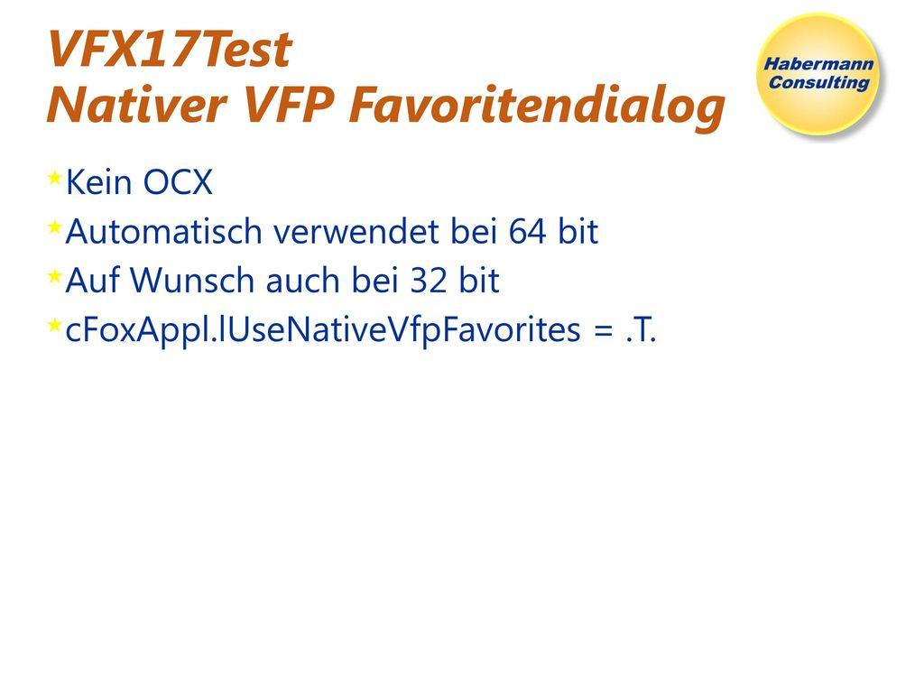 VFX17Test Nativer VFP Favoritendialog