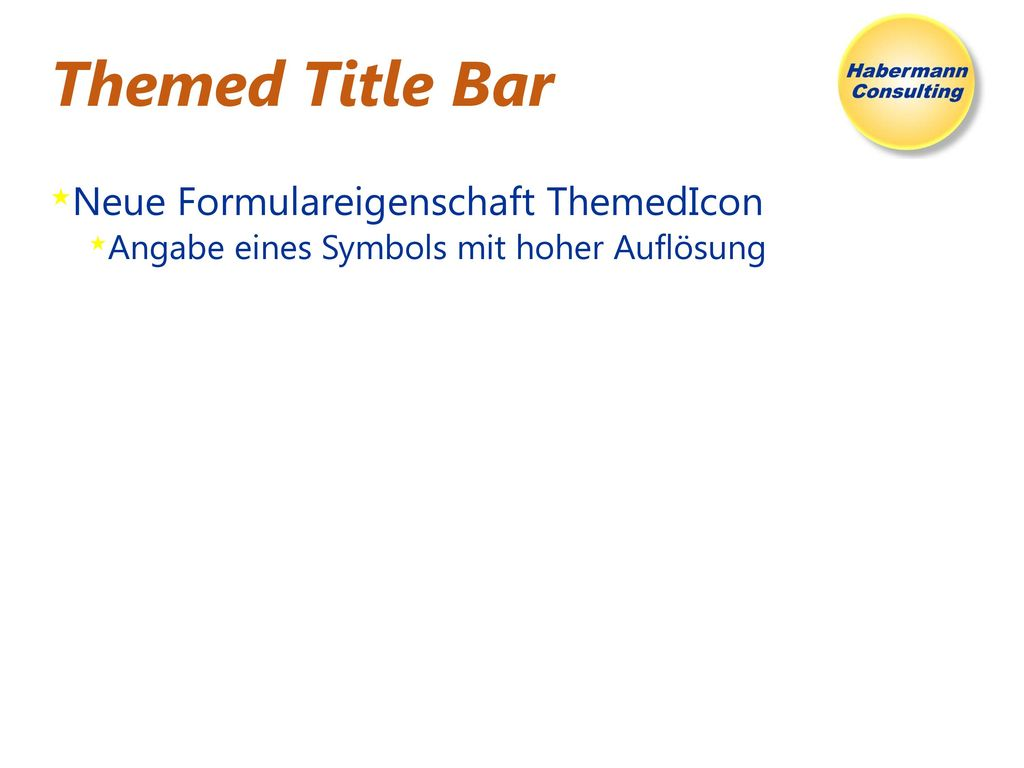 Themed Title Bar Neue Formulareigenschaft ThemedIcon