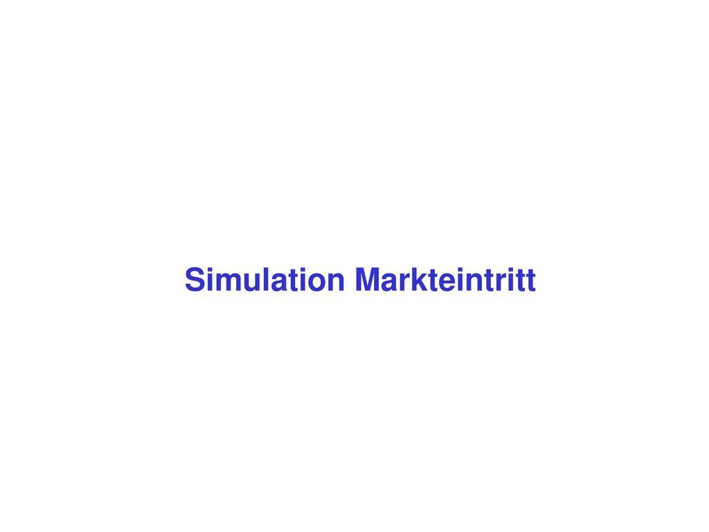 Simulation Markteintritt