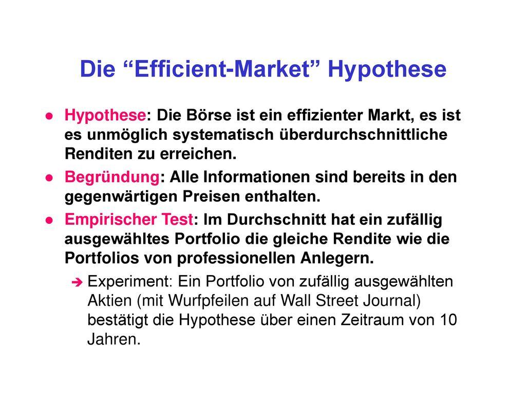 Die Efficient-Market Hypothese
