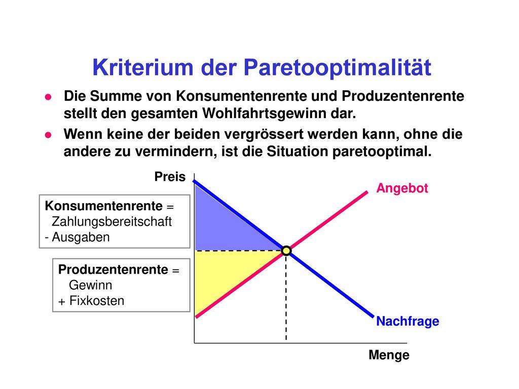 Kriterium der Paretooptimalität