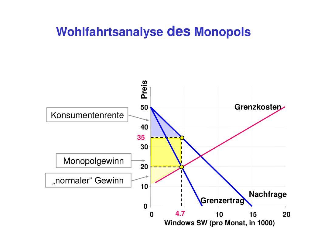 Wohlfahrtsanalyse des Monopols