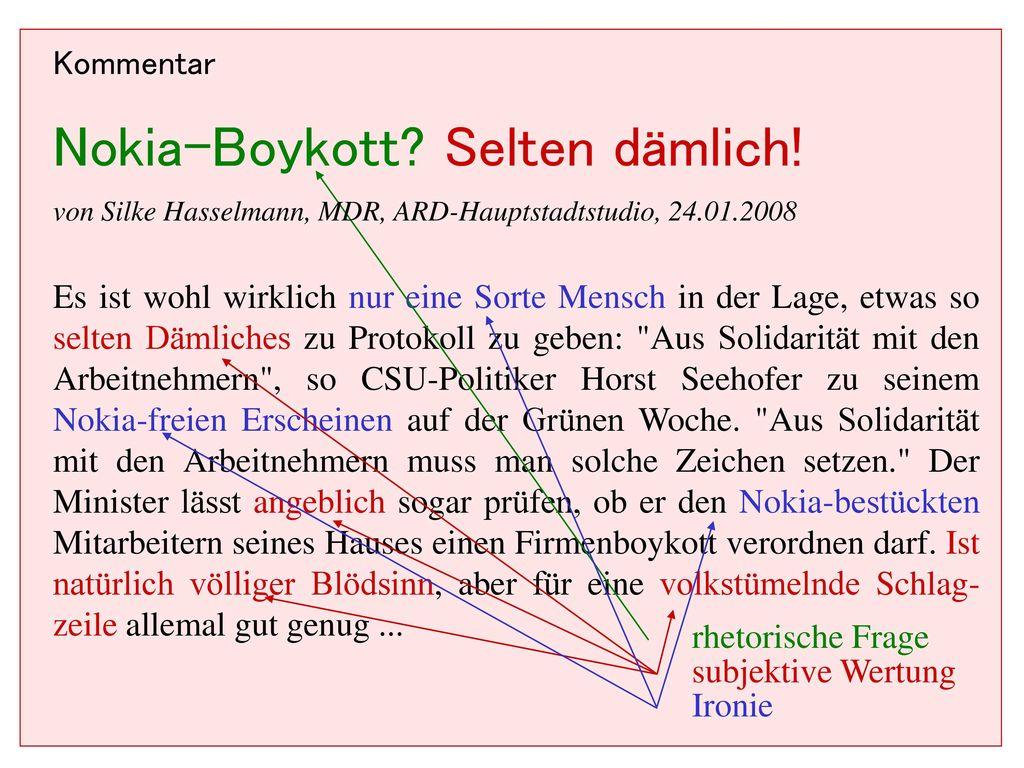 Nokia-Boykott Selten dämlich!