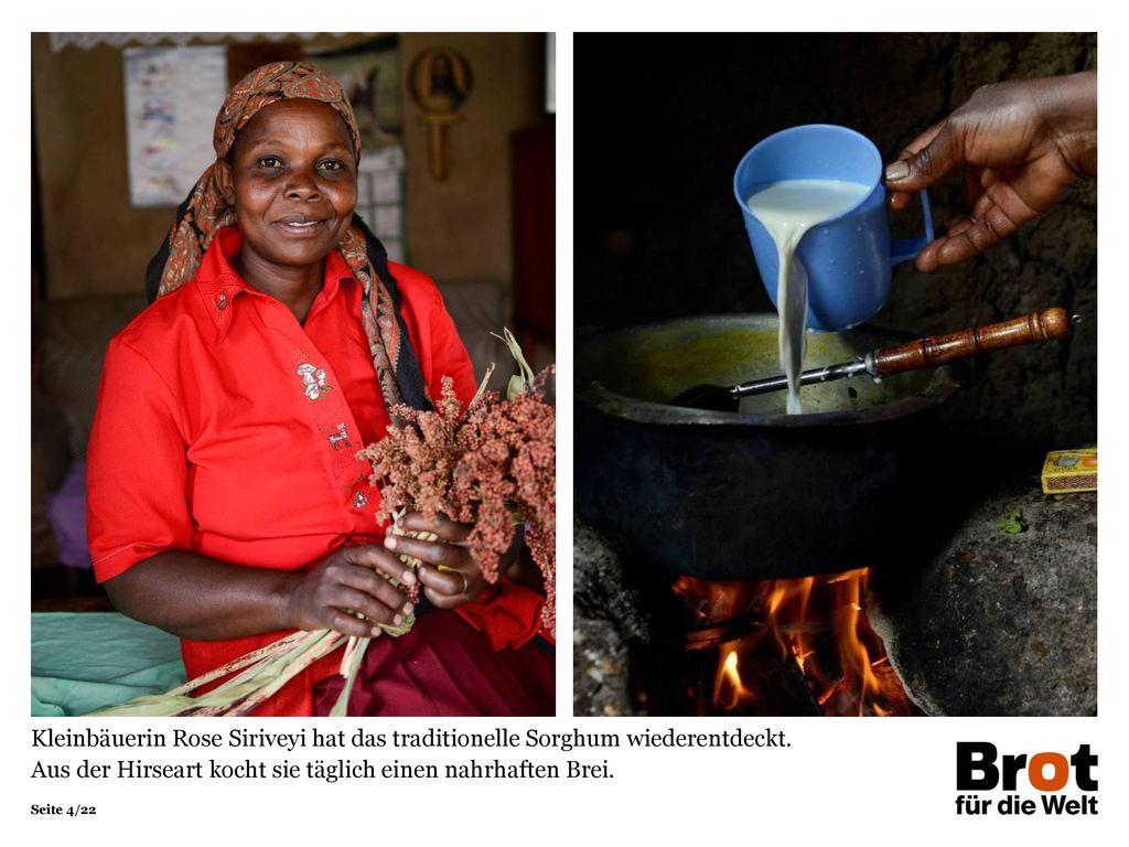 Kleinbäuerin Rose Siriveyi hat das traditionelle Sorghum wiederentdeckt.