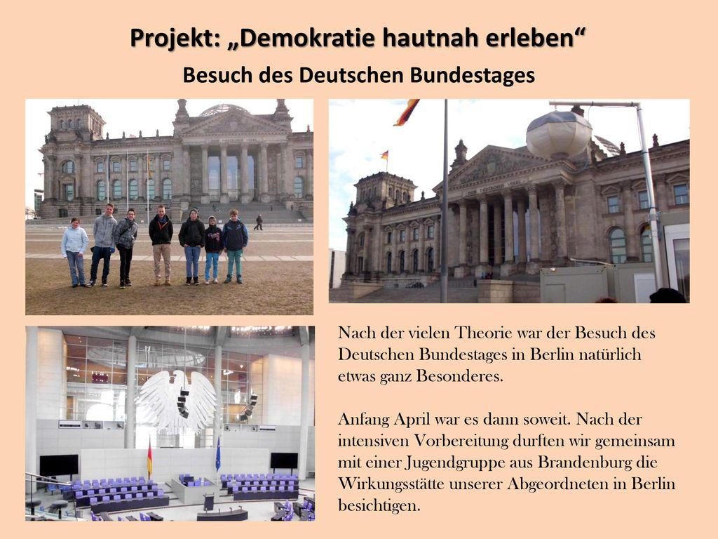 Besuch des Deutschen Bundestages