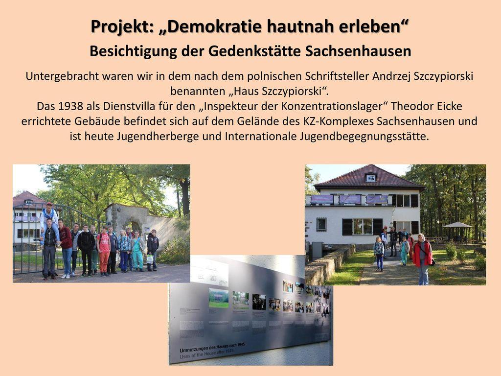 """Projekt: """"Demokratie hautnah erleben"""