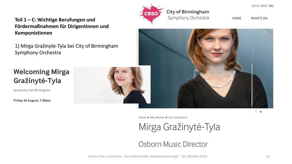 1) Mirga Gražinytė-Tyla bei City of Birmingham Symphony Orchestra