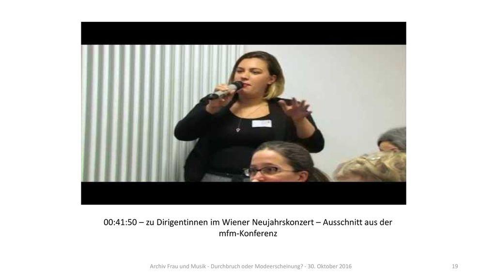 00:41:50 – zu Dirigentinnen im Wiener Neujahrskonzert – Ausschnitt aus der mfm-Konferenz