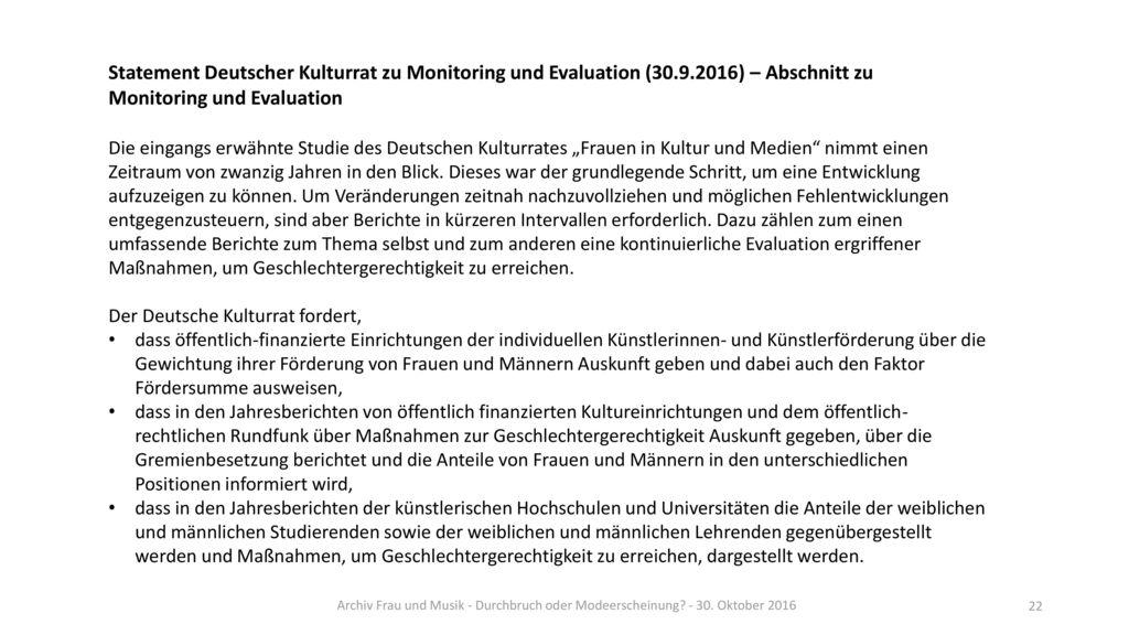 Monitoring und Evaluation