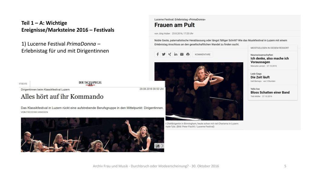 Teil 1 – A: Wichtige Ereignisse/Marksteine 2016 – Festivals