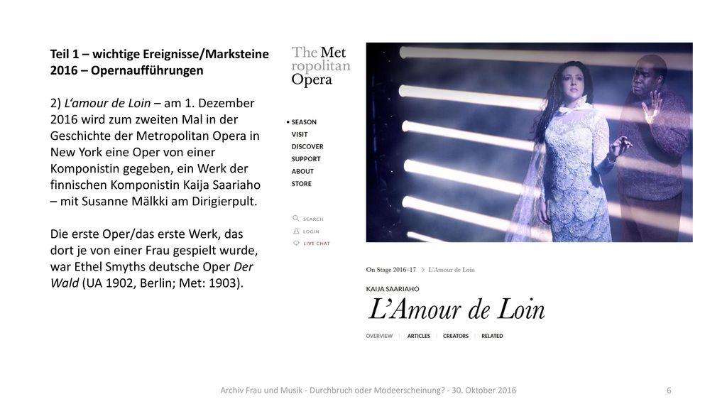 Teil 1 – wichtige Ereignisse/Marksteine 2016 – Opernaufführungen