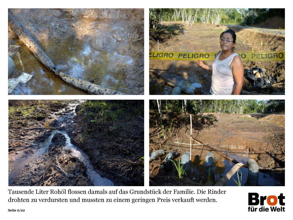 Tausende Liter Rohöl flossen damals auf das Grundstück der Familie