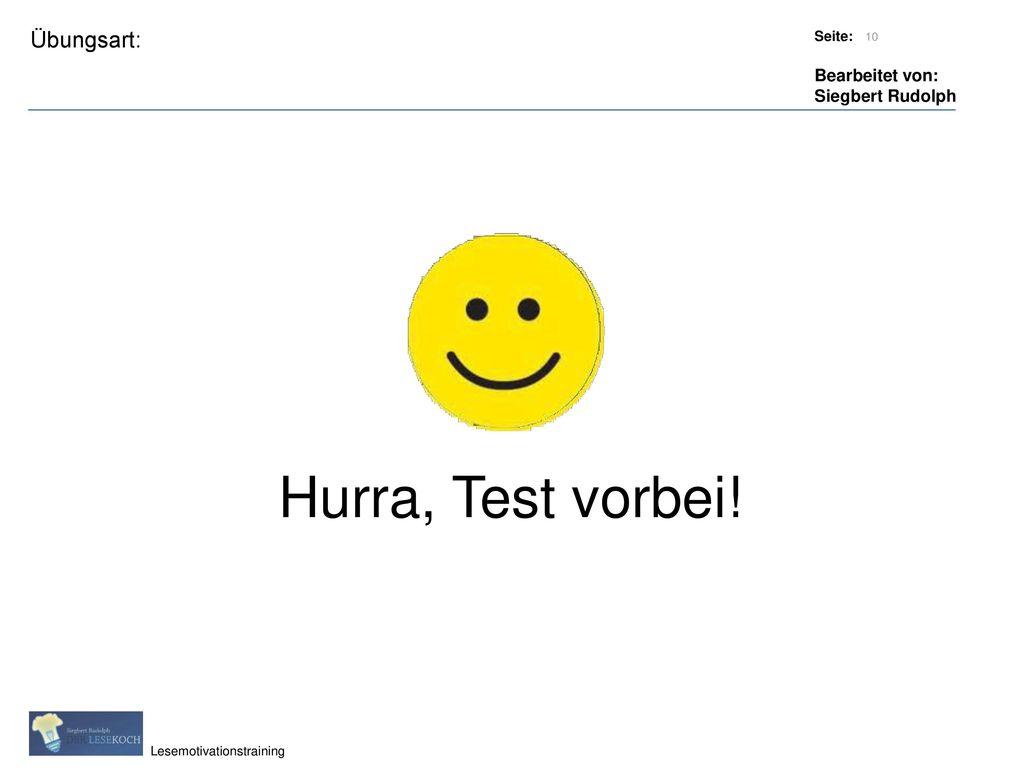 Titel: Quelle: Hurra, Test vorbei!
