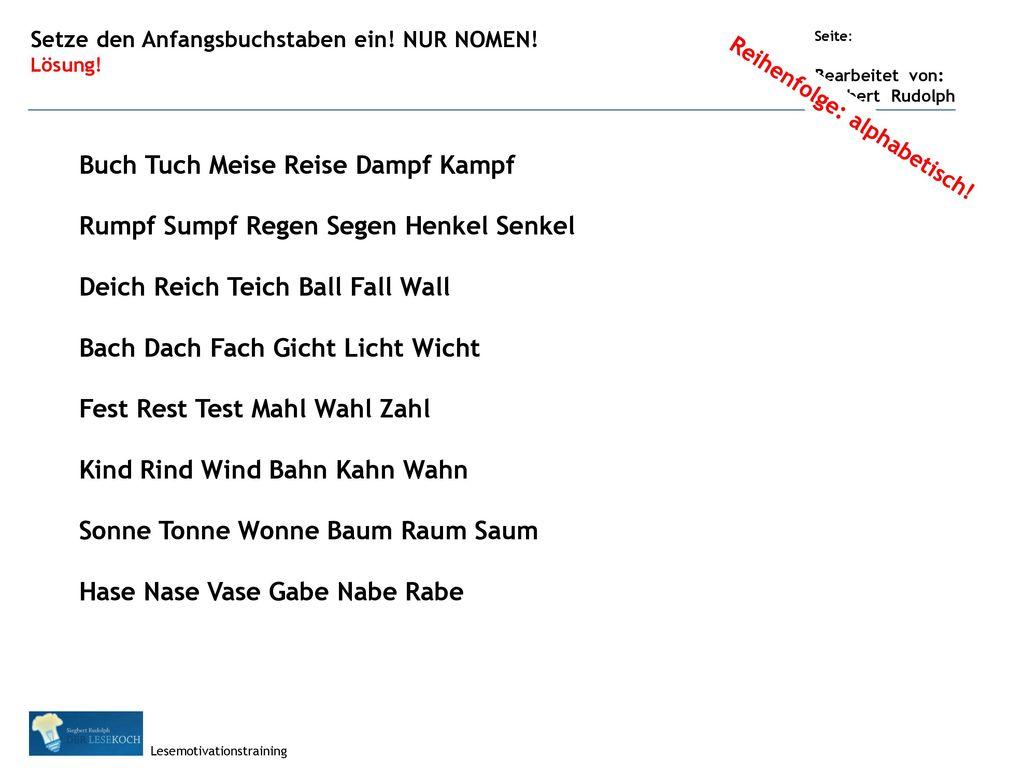 Buch Tuch Meise Reise Dampf Kampf