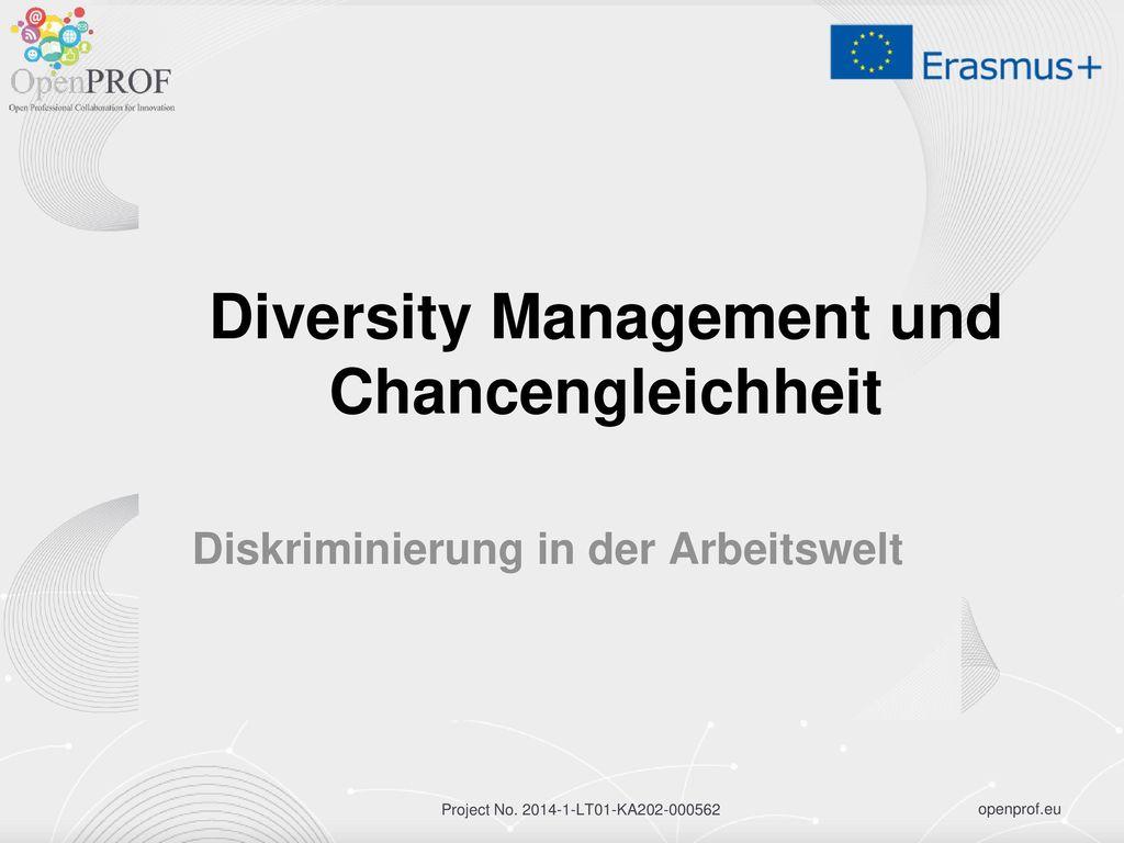 Diversity Management und Chancengleichheit