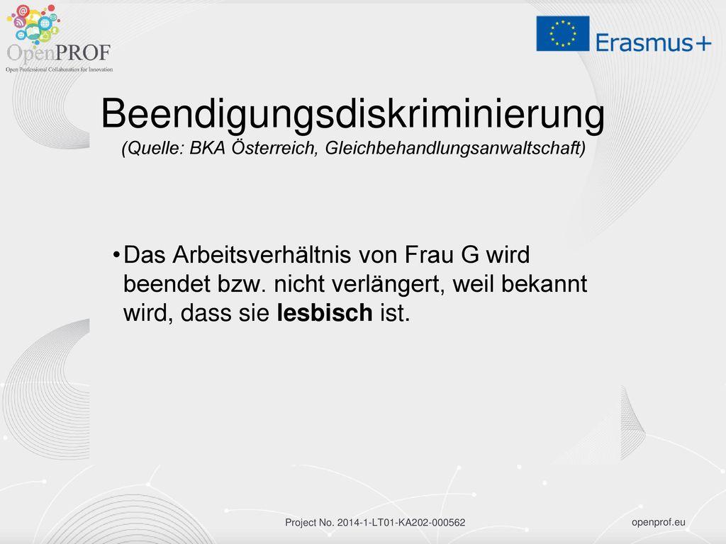 Beendigungsdiskriminierung (Quelle: BKA Österreich, Gleichbehandlungsanwaltschaft)