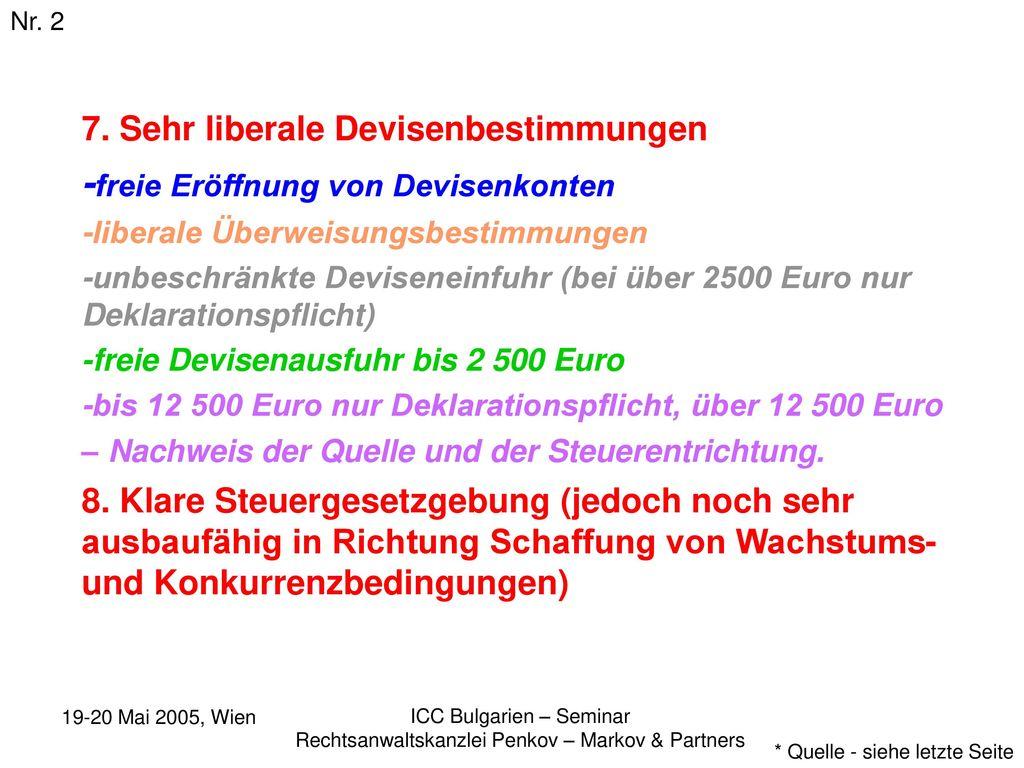 -freie Eröffnung von Devisenkonten