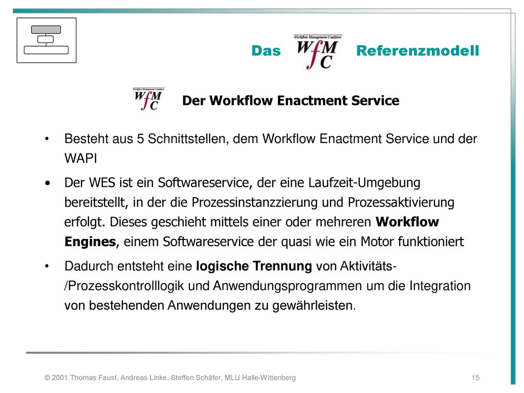 Der Workflow Enactment Service