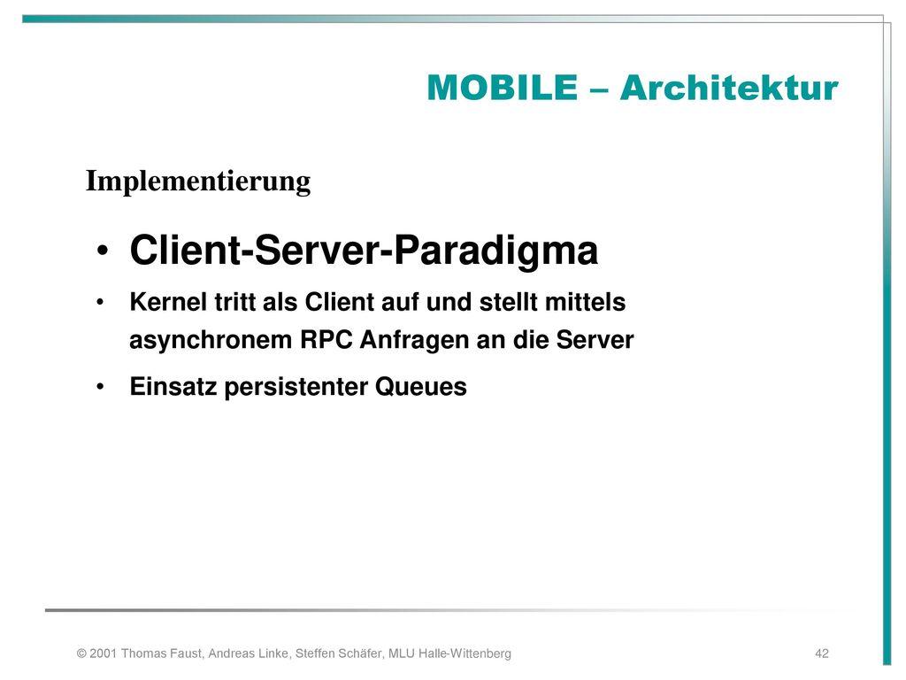 Client-Server-Paradigma