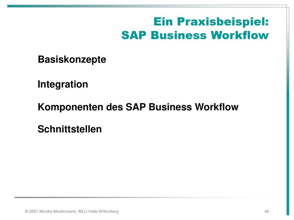 Ein Praxisbeispiel: SAP Business Workflow