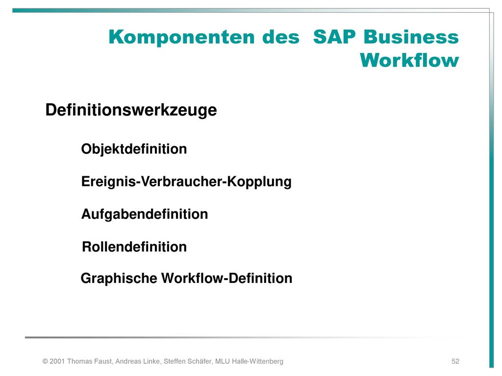 Komponenten des SAP Business Workflow
