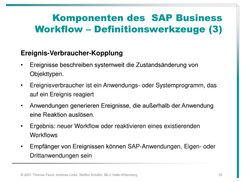 Komponenten des SAP Business Workflow – Definitionswerkzeuge (3)