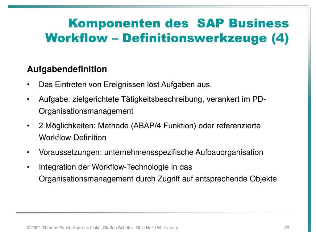 Komponenten des SAP Business Workflow – Definitionswerkzeuge (4)