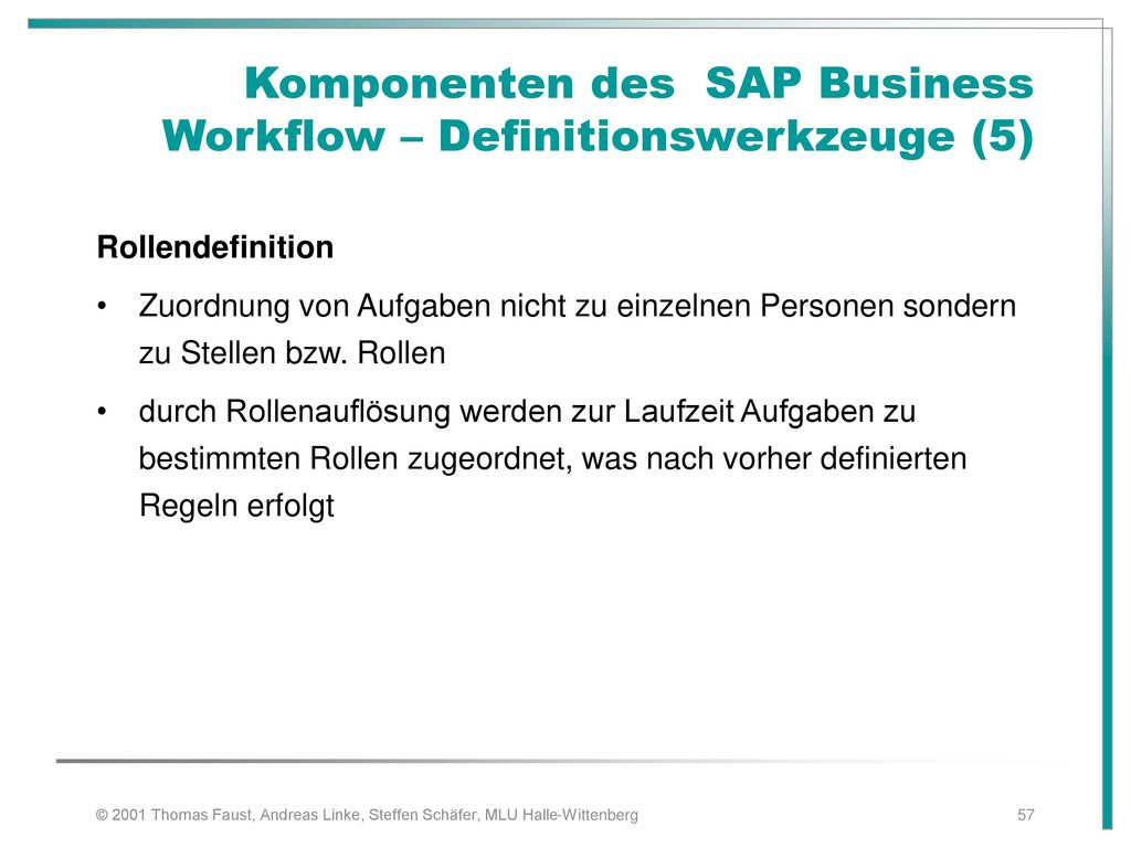 Komponenten des SAP Business Workflow – Definitionswerkzeuge (5)