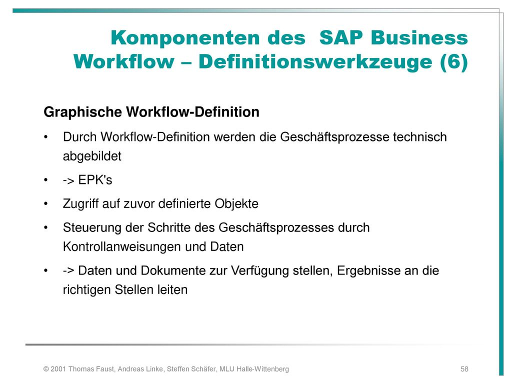 Komponenten des SAP Business Workflow – Definitionswerkzeuge (6)