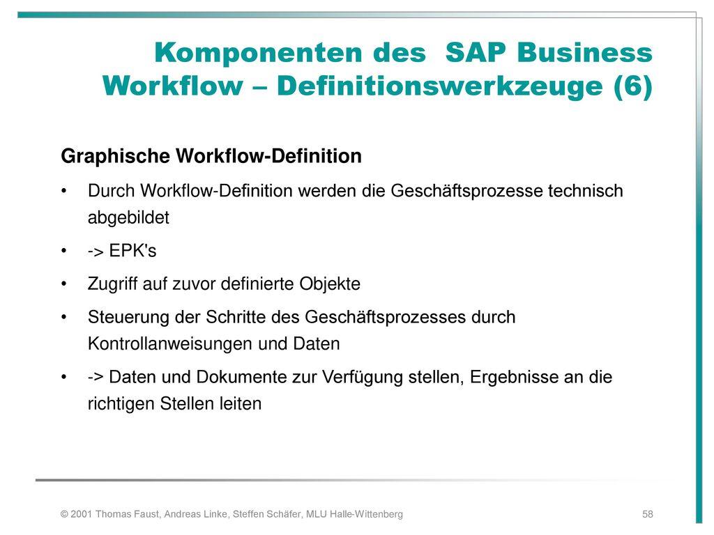 Komponenten des SAP Business Workflow – Definitionswerkzeuge (6)