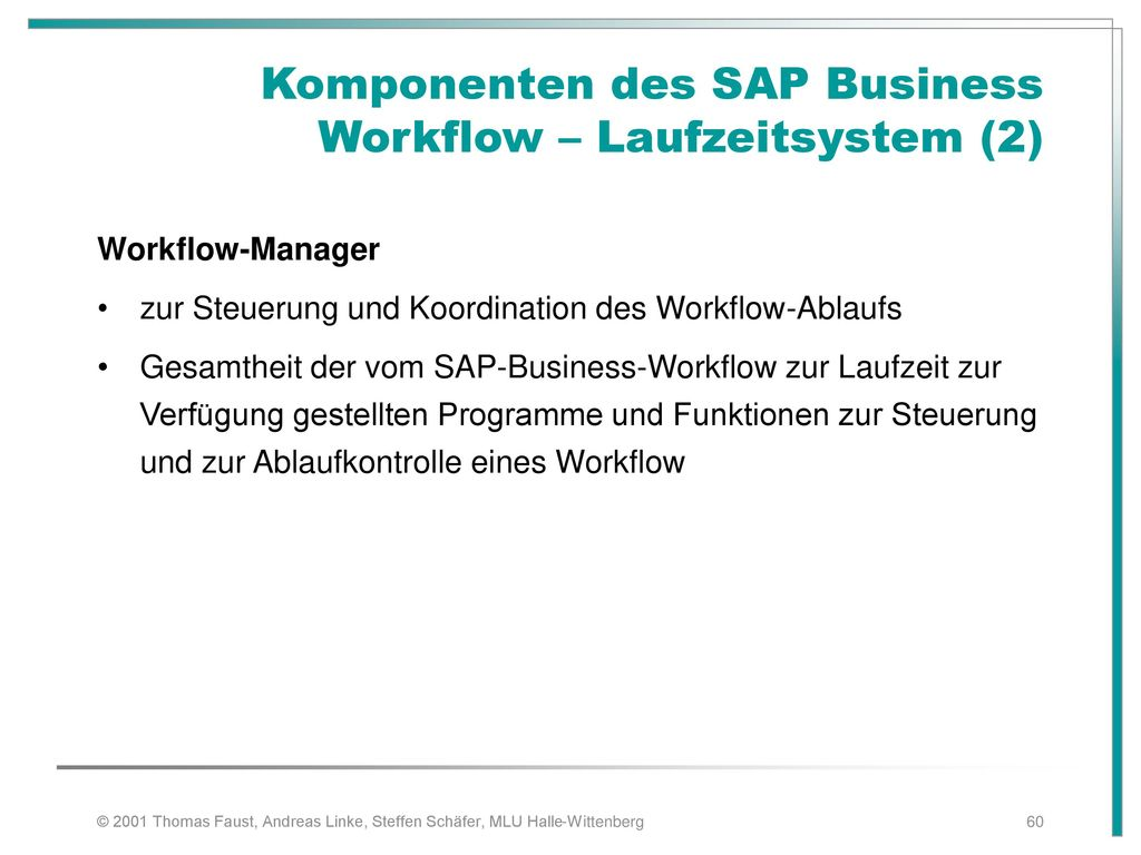 Komponenten des SAP Business Workflow – Laufzeitsystem (2)