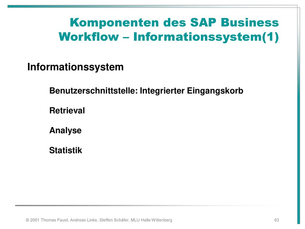 Komponenten des SAP Business Workflow – Informationssystem(1)