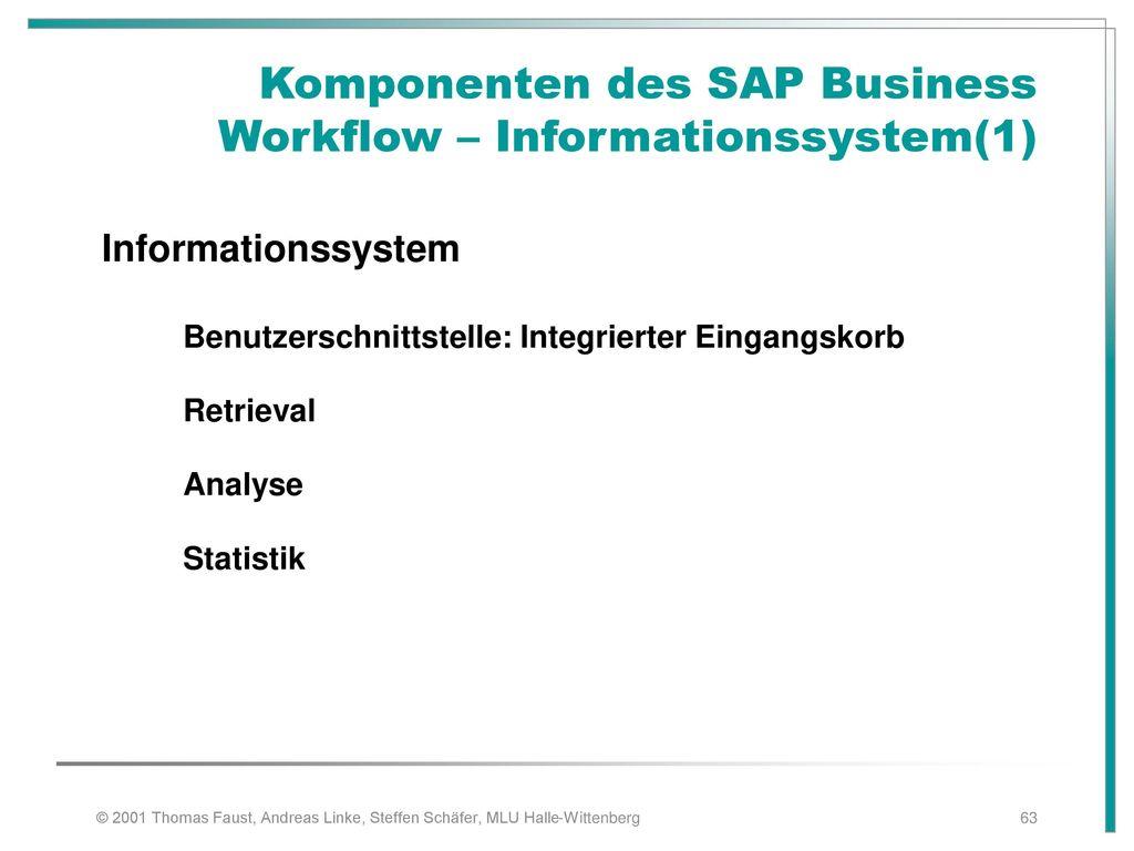 Komponenten des SAP Business Workflow – Informationssystem(1)