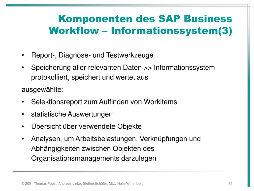 Komponenten des SAP Business Workflow – Informationssystem(3)