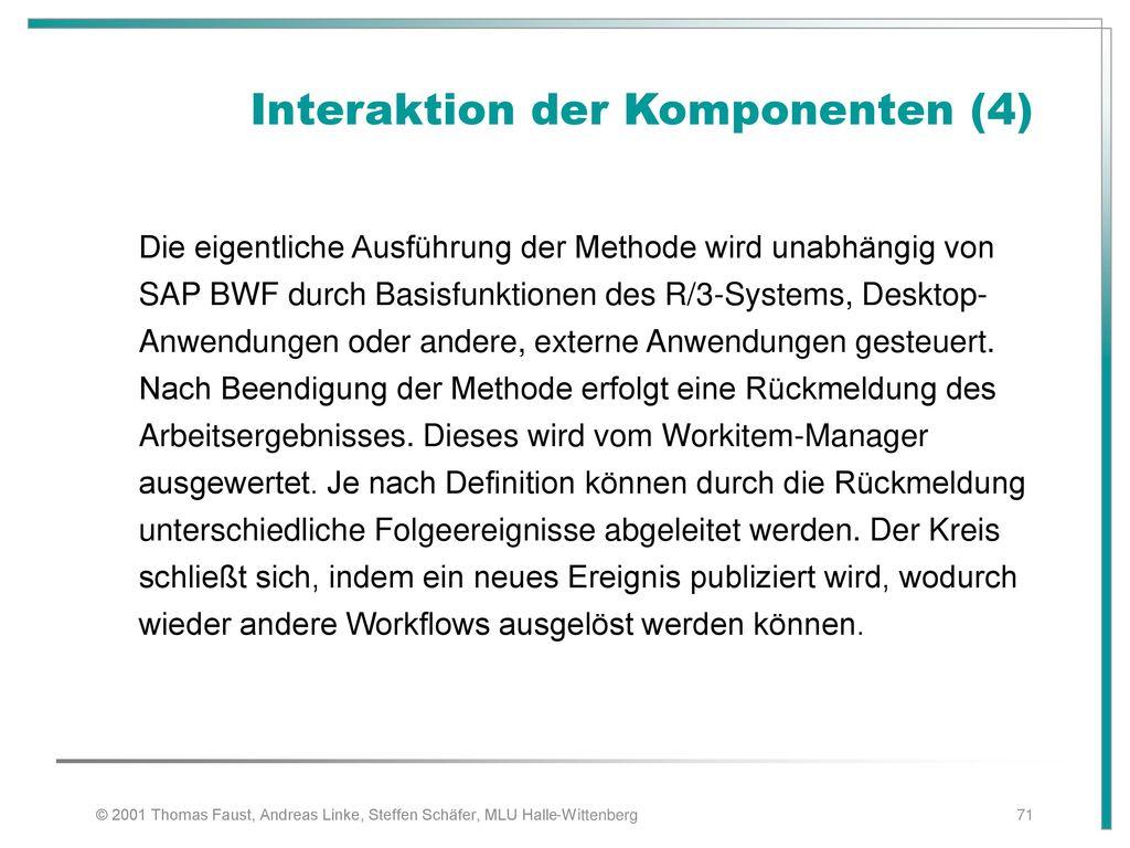 Interaktion der Komponenten (4)