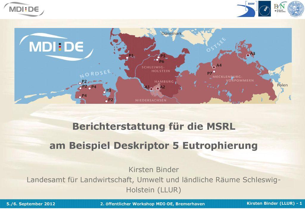 Berichterstattung für die MSRL am Beispiel Deskriptor 5 Eutrophierung