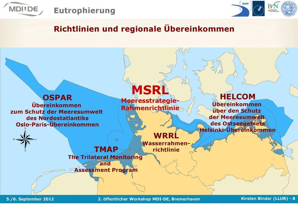 MSRL Eutrophierung Richtlinien und regionale Übereinkommen HELCOM