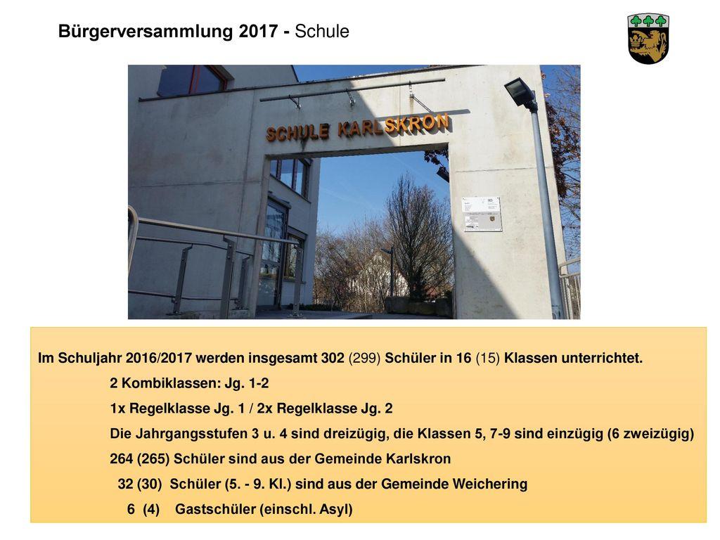 Bürgerversammlung 2017 - Schule