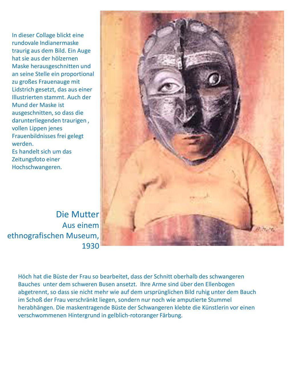 Die Mutter Aus einem ethnografischen Museum, 1930