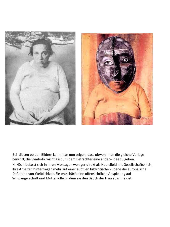 Bei diesen beiden Bildern kann man nun zeigen, dass obwohl man die gleiche Vorlage benutzt, die Symbolik wichtig ist um dem Betrachter eine andere Idee zu geben.