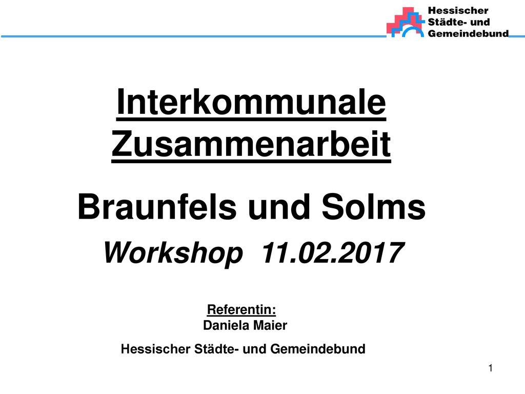 Interkommunale Zusammenarbeit Braunfels und Solms