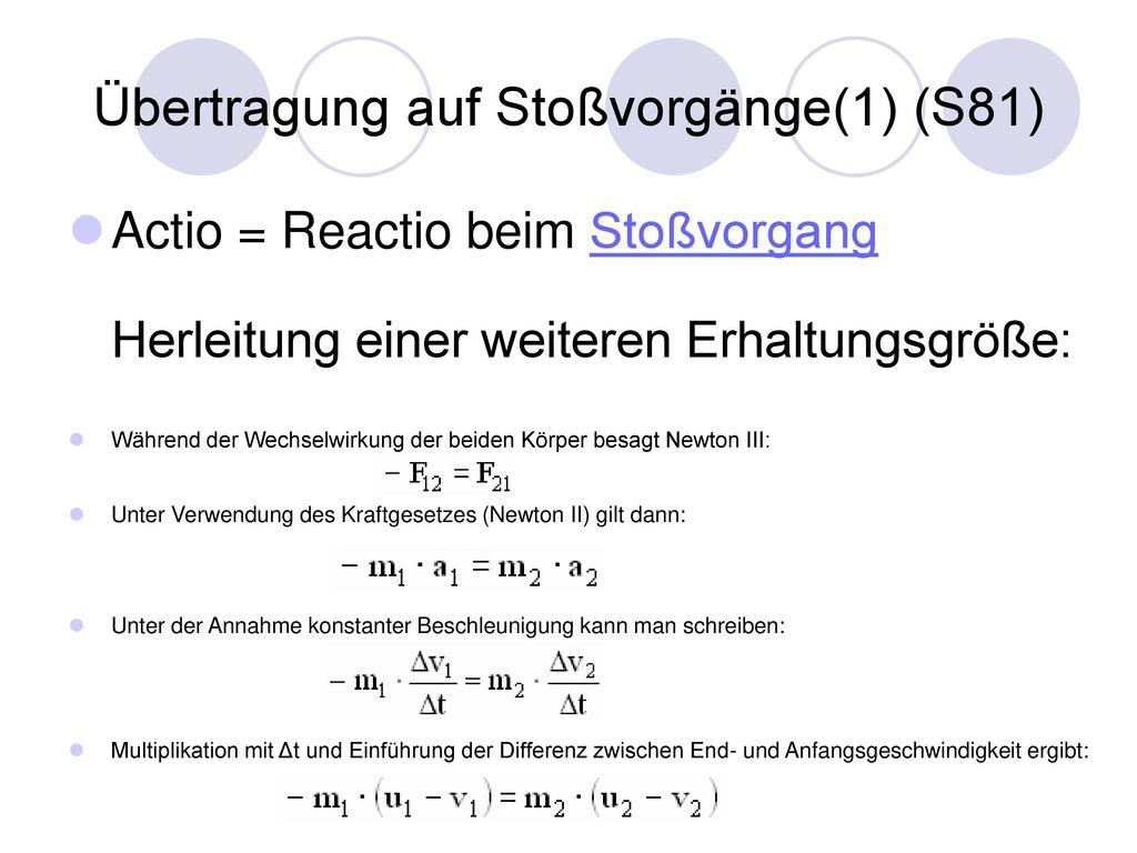 Übertragung auf Stoßvorgänge(1) (S81)