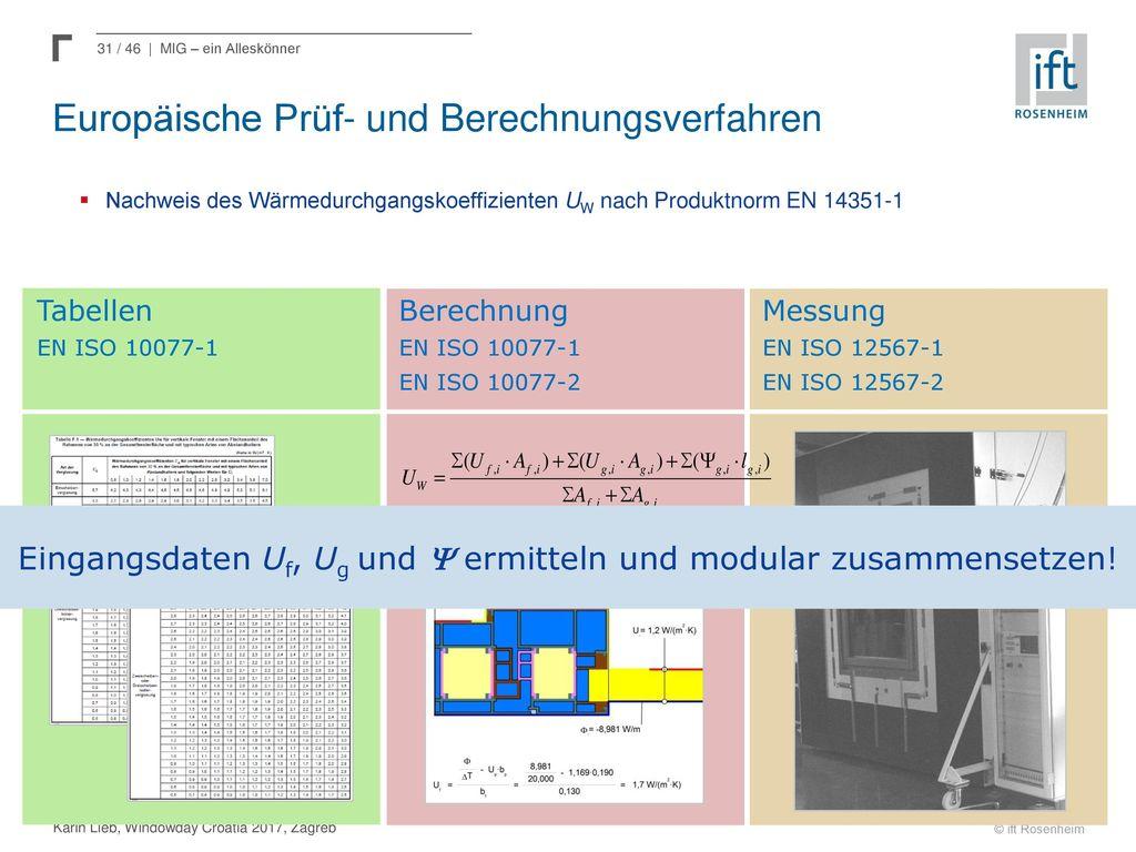 Europäische Prüf- und Berechnungsverfahren