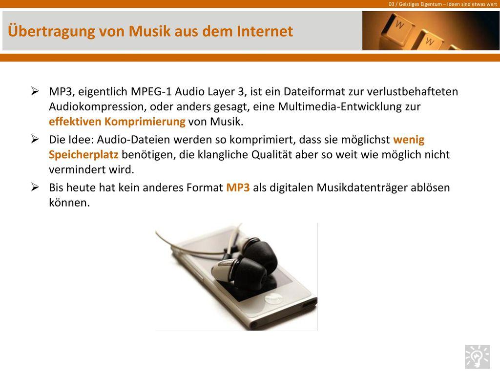 Übertragung von Musik aus dem Internet