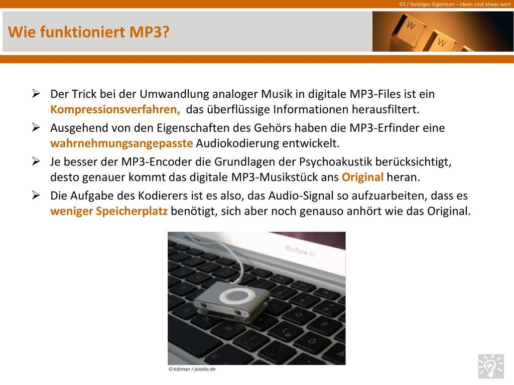 Wie funktioniert MP3