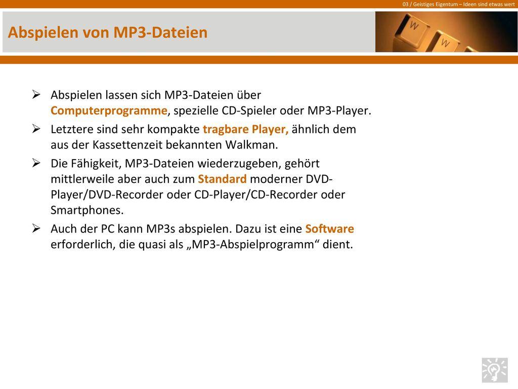 Abspielen von MP3-Dateien